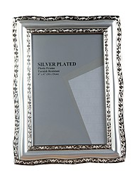 European Metallic Silver Photo Frame 6""