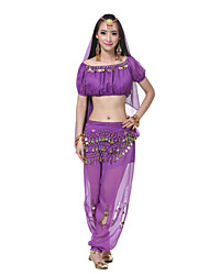 Performance Women's Silk Belly Outfit-Including Headpiece,Veil,Belt,Top,Bottom(More Colors)