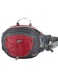 MOUNTAINTOP 8L Terylene Red Outdoor Enhanced Breathability Cycling Waist Bag Chest Bag