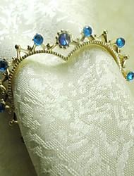 Placage coeur Rond de Serviette en cristal en métal, métal, 4cm, ensemble de 12