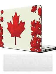 Canadian Flag Pattern PC Hard Case with Keyboard Cover Skin for MacBook Pro