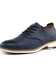 Zapatos de Hombre Oficina y Trabajo/Casual Cuero Sintético Oxfords Negro/Azul/Naranja
