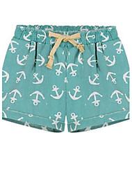 Women's Green/Gray Shorts Pants , Vintage/Casual/Print/Work