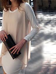 Falso de dos piezas de vestir de manga larga de las mujeres JINYI