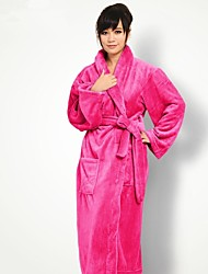 Bath Robe, High-class Red Rose Garment Bathrobe Thicken