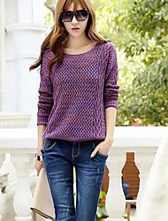 Women's Round Hollow Out  Loose Slim Pullover Knitwear Sweater