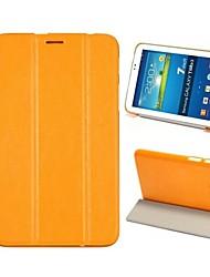elegant Flip Dreifachfalz Stand auto Schlaf / Wach-up Ledertasche für Samsung Galaxy Tab 3 lite T110 / T111