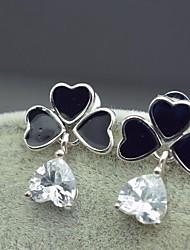 женские модные серьги новая капля объявление клевер серебряные ювелирные изделия