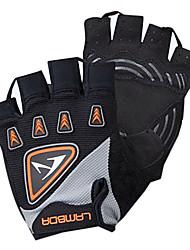 LAMBDA Black Cycling Breathable Mesh Silica Gel Bike Half Finger Gloves