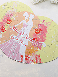 Personalized Heart Shaped Jigsaw Puzzle - Sweet Moment
