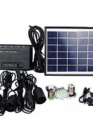portátil en casa sistema de luz que acampa llevada solar del cargador del teléfono móvil blanco linterna