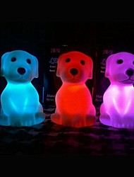 Coway Colorful Pug LED Night Light Christmas Supplies Lovely