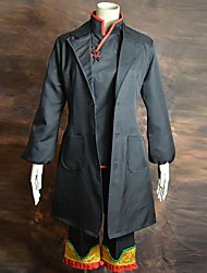Inspired by Hoozuki no Reitetsu Cosplay Anime Cosplay Costumes Cosplay Suits Patchwork Gray Long Sleeve Coat / Top / Pants