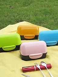 kleine pp plastic Japanse stijl sushi box, (willekeurige kleur)