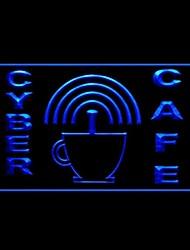 Интернет-кафе Реклама светодиодные Вход