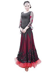 Ballroom Dance Tops Women's Viscose Lace Black Modern Dance