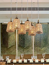 6-LightsModern Gold K9 Crystal Chandelier (110/220V)