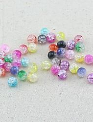 Z&X® DIY материал шариков цветных некорректные шарики 8mmx8mm 100 шт (случайный цвет, рисунок)