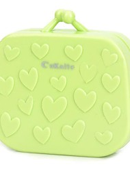 Cute 3D Heart Pattern Contact Lenses Box  Green