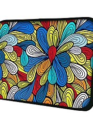 Elonno Flowers Neoprene Laptop Sleeve Case Bag Pouch Cover for 7'' Samsung Galaxy Tab iPad Mini