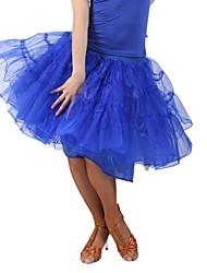 Mujeres Ropa de Baile viscosa Organza Latin Dance Skirt (más colores)