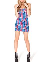 copie de style européen des femmes une robe mince ligne
