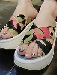 Frauen Flache Heel Slide Hausschuhe Schuhe (weitere Farben)