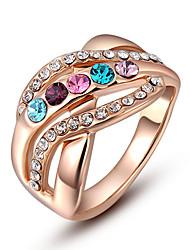 ROXI Korean Style-Österreich-Kristall Colored Diamond Ring