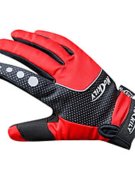 NUCKILY Wasserdicht Winddicht Slide-Proof Thermal Red Cycling Gloves
