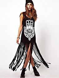 borlas de instrução das mulheres monaier Sleevless vestido