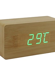 Shibaojia ® LED Clock Wooden Clock Sound Control Fasionable Design M9