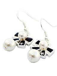 Meet You Bowknot Shaped Pearl Earrings