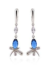 electroplate platine zircon boucles d'oreilles des femmes yueli dje0032e-b