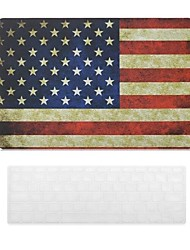 American Flag Design PC Hard Case with Keyboard Cover Skin for MacBook Air