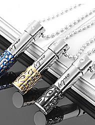Fashion Columnar Perfume Bottle Titanium Steel Pendants(More Color) (1 Pc)