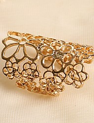 Lucky Star Women's Fashion Cut Out Flower Thick Ring
