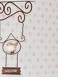 Oiseaux de résine Bienvenue Adresses Hanging Fer Forgé mur
