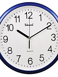 "Telesonic™ 12""H  Brief Style Raised Scale Mute Wall Clock"