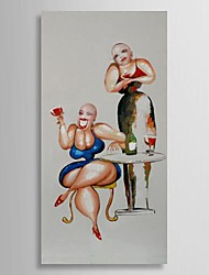 Hand Painted Oil Painting People Funny Fat Ladies with Stretched Frame