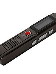4GB Dictaphone Professional Digital Voice Recorder Pen with MP3 Rechargeable Function Digital Audio Recorder-Black