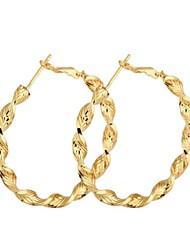 New Fashion ouro 18k Tópico Forma da mulher Hoop Brincos ER0465