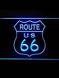 Route 66 US Route Advertising LED Light Sign