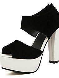 IPIEN Summer Thick Heel Waterproof Sandal (White)