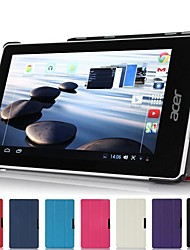 "Slim Folding Hard Shell Stand Leather Case Cover for Acer Iconia One 7"" B1-740 Tablet"