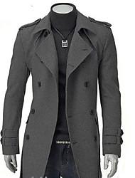мужской портной воротник двойной грудью оболочка пальто