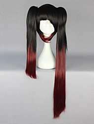 Cosplay Wigs Date A Live Kurumi Tokisaki Black Long Anime Cosplay Wigs 80 CM Heat Resistant Fiber Female