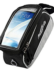mzyrh 4,0 polegadas saco do telefone quadro preto e cinza com pvc tela tocável transparente