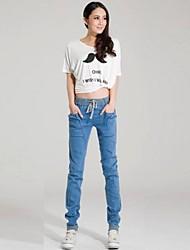 das mulheres nova tendência da moda amarras soltas Haren calças de jeans no atacado