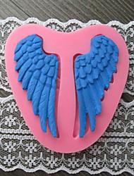 um par de asas baking molde do bolo fondant, l7cm * w7.5m * h1cm sm-469
