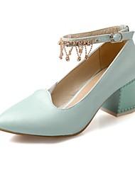 Bombas Chunky Heel punta estrecha Zapatos de mujer (más colores)